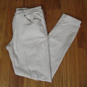 ANN TAYLOR LOFT Stone/Cream Relaxed Skinny Jeans